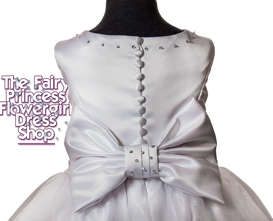 Flowergirl Dress The Orchid - Tulle with Swarovski crystals