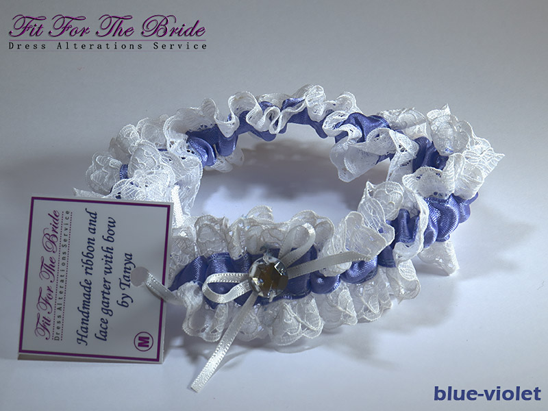Hand made ribbon and lace garter belt with bow (Fit For The Bride)